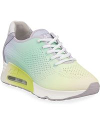 Ash - Lucky Pastel Knit Wedge Sneakers - Lyst