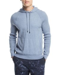Michael Kors | Mixed Textured-knit Cotton/cashmere Athleisure Hoodie | Lyst