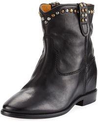 Isabel Marant - Cluster Hidden-wedge Western Boots - Lyst