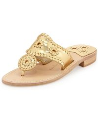 Jack Rogers - Palm Beach Whipstitch Thong Sandal - Lyst