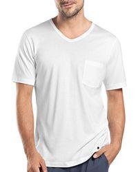 Hanro - Night & Day Short-sleeve Tee W/pocket - Lyst