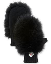 Moncler - Genius Guanti Fur Gloves - Lyst