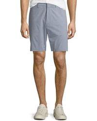 Theory - Men's Evan Oxford Striped Shorts - Lyst
