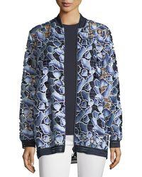 Elie Tahari - Gilana Floral-net Long-sleeve Jacket - Lyst