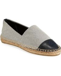 Tory Burch - Leather-trimmed Espadrilles - Lyst