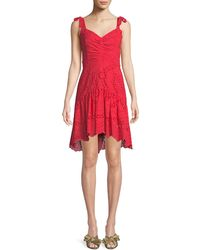 Parker - Odysseia Sleeveless Eyelet Mini Dress - Lyst