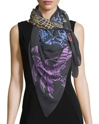 Anna Coroneo - Modal Square Palm Trees Scarf Multi - Lyst