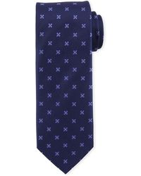 Eton of Sweden - Floral-pattern Open-ground Silk Tie - Lyst