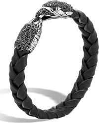 John Hardy - Men's Legends Batu Leather Eagle Bracelet - Lyst