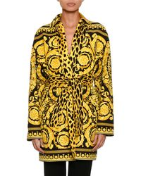 2a32a2affc4 Versace - Reversible Twill Trench Coat - Lyst