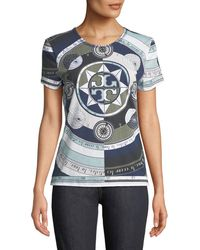 Tory Burch - Louis Octagonal-print T-shirt - Lyst