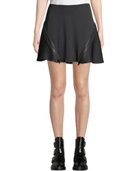 Opening Ceremony - Zip Flare Ribbed Mini Skirt - Lyst