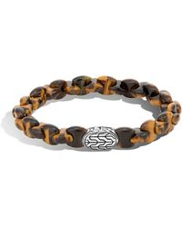 John Hardy - Men's Batu Classic Chain Bracelet With Tiger's Eye - Lyst