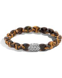 John Hardy | Men's Batu Classic Chain Bracelet With Tiger's Eye | Lyst