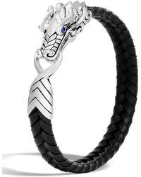 John Hardy - Men's Legends Naga Dragon Leather Dragon Bracelet - Lyst