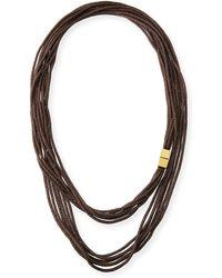 Lafayette 148 New York - Tea Long Mesh Necklace - Lyst