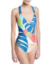 b494dec804 Trina Turk - Banana Leaf Printed One-piece Swimsuit - Lyst