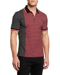 Givenchy - Men's Asymmetrical-stripes Slim-fit Polo Shirt - Lyst