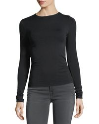Wolford - Crewneck Long-sleeve Jersey Top - Lyst