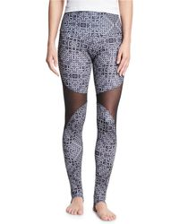 Onzie - Ring-print High-rise Stirrup Leggings - Lyst