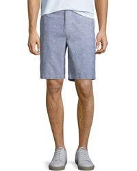 PAIGE - Men's Thompson Dot-pattern Cotton Shorts - Lyst