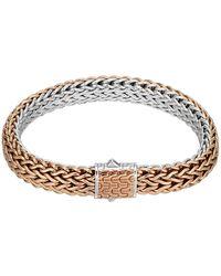 John Hardy | Bronze/silver Reversible Woven Chain Bracelet | Lyst