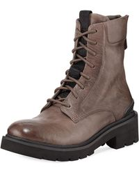 Frye - Allison Leather Combat Boots - Lyst