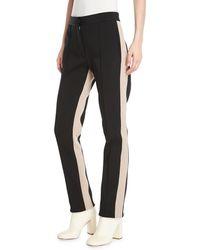 Derek Lam - Slim Side-stripe Straight-leg Stretch-cady Pants - Lyst