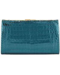 Nancy Gonzalez - Colette Crocodile Slim Exposed-frame Clutch Bag - Lyst