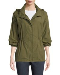 Eileen Fisher - Organic Cotton-nylon Utility Jacket With Hidden Hood - Lyst