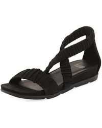 Eileen Fisher - Dylan Tumbled Scrunched Sandal - Lyst