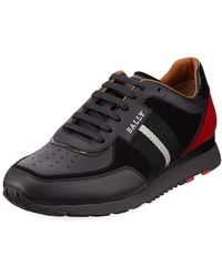 Bally - Men's Aston New Leather Sneakers W/ Trainspotting Stripe - Lyst