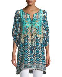 Tolani - Josephine Southwestern Silk Easy Tunic/dress - Lyst