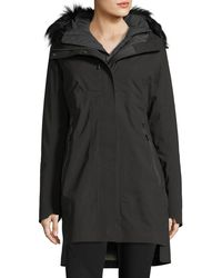 The North Face - Triclimate® Hooded Zip-front Parka Jacket W/ Faux-fur - Lyst