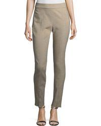 St. John - Summer Bella Double-weave Skinny Pants - Lyst
