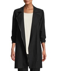 Eileen Fisher - Washable Stretch Crepe Moto Jacket - Lyst