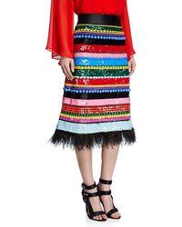 Alice + Olivia - Merril Beaded Midi Gown Skirt - Lyst