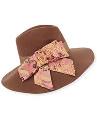 Etro - Wool Hat W/ Paisley Bow - Lyst