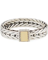 John Hardy - Men's Modern Chain Large Rectangle Bracelet - Lyst