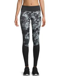 The North Face - Pulse Printed Full-length Performance Tights - Lyst