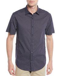 Vince - Men's Vintage-print Short-sleeve Sport Shirt - Lyst