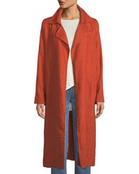 Eileen Fisher - Heavy Organic Linen Trench Coat - Lyst