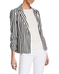 Cupcakes And Cashmere - Winston Striped One-button Blazer - Lyst