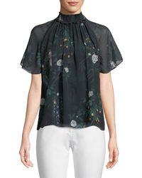 Camilla & Marc   Arlen Short-sleeve Silk Top   Lyst