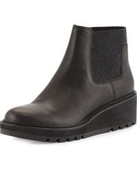 fc6a0e25edf8 Lyst - Eileen Fisher Low-Wedge Chelsea Boots in Black