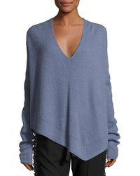 Derek Lam | Asymmetric Ribbed Cashmere-blend Sweater | Lyst