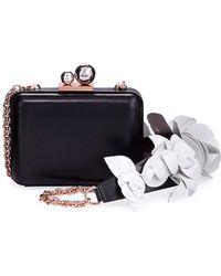 Sophia Webster | Vivi Lilico Napa Box Clutch Bag With Jumbo Flowers | Lyst