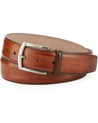 Neiman Marcus - Square-buckle Calf Leather Belt - Lyst