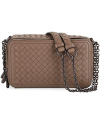 ab6c44ce14 Neiman Marcus · Bottega Veneta - Intrecciato Leather Zip-around Box  Crossbody Bag - Lyst