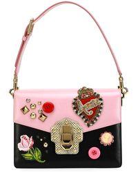 Dolce & Gabbana - Lucia Vintage Embellished Shoulder Bag - Lyst